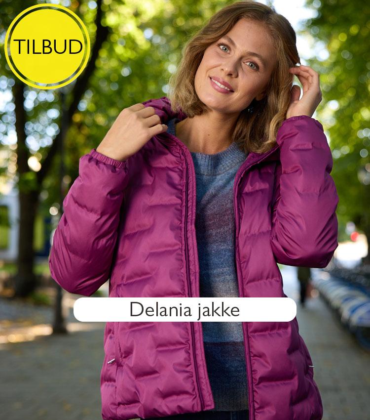 Delania jakke. Mønstret vattert jakke med hette    Rask levering   Kjøp på Zavanna.no